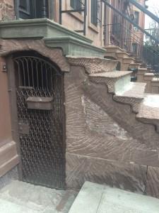 Under the stoop after demolition.