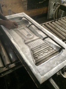 Casting for the replicated newel post.
